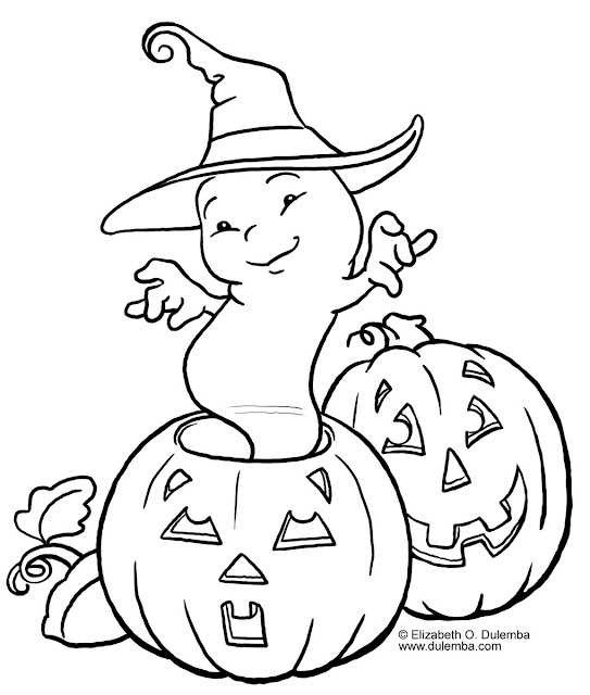 coloring pages pumpkins and ghosts - photo#6