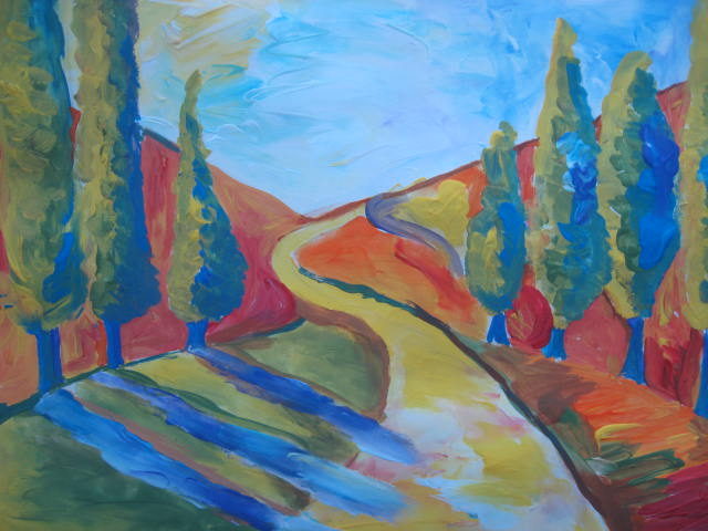 Marymaking More Finger Painted Fauvist Landscapes