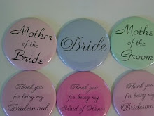 Wedding/Bridal buttons and mirrors