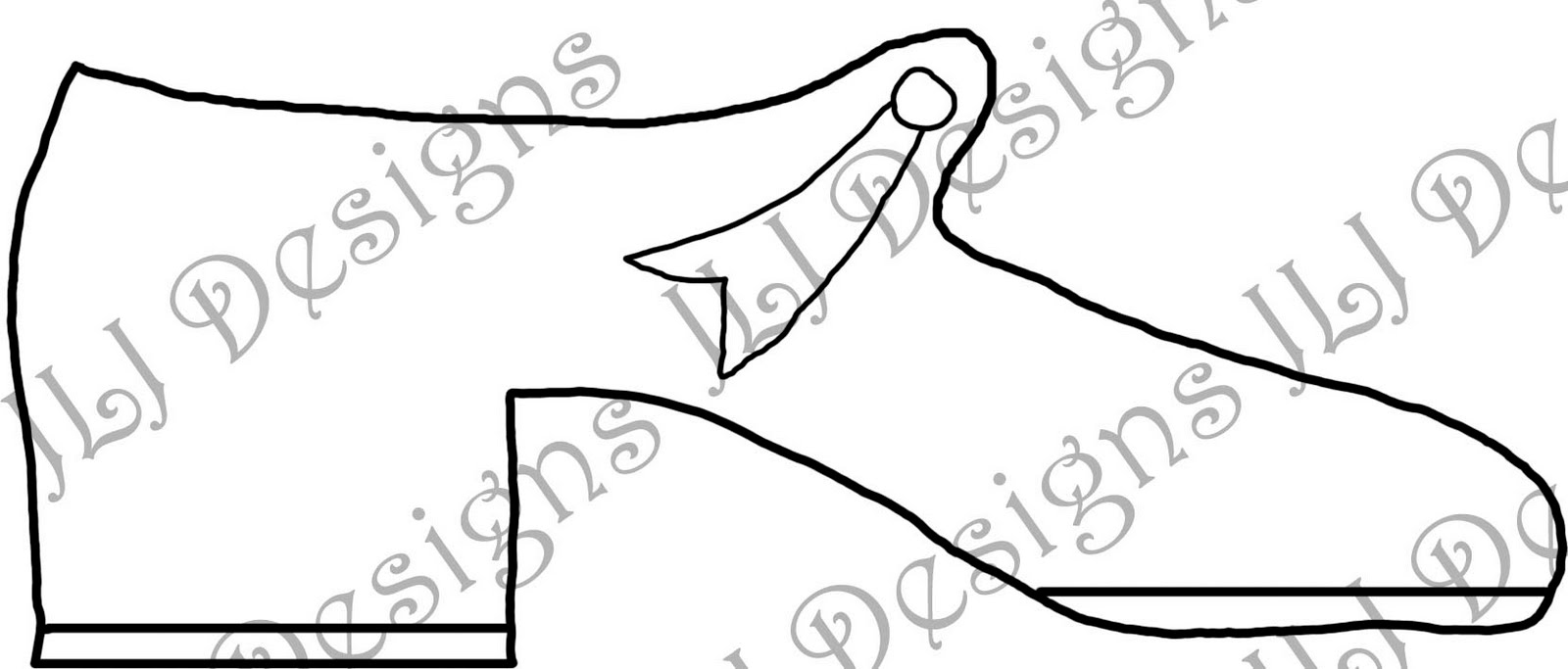 tap shoes coloring page