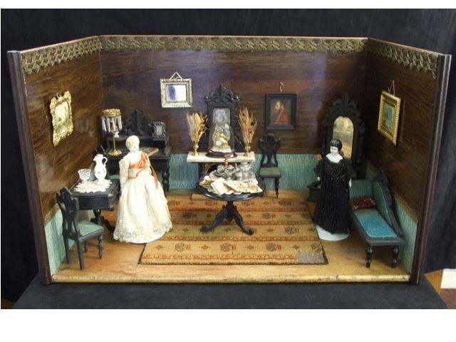 Dollhouse Minis Antique German Dollhouse Ca 1850 1860