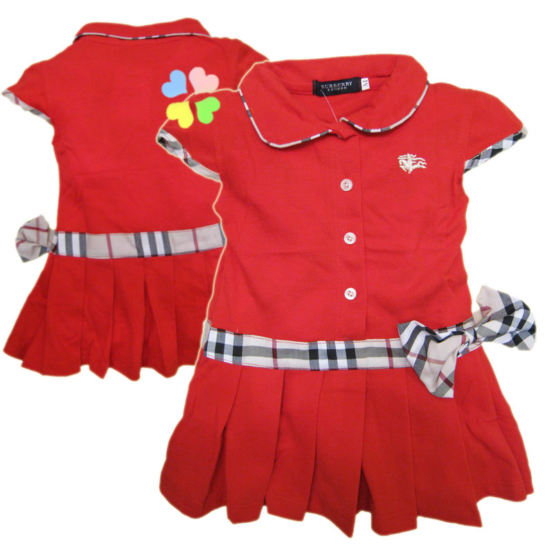 BURBERRY Ribbon Red Dress S 1 year Last 1 pc M 2 years SOLD