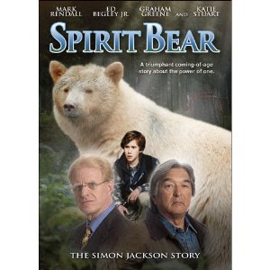 garvey touching spirit bear