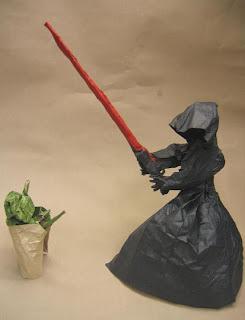 Luke Skywalker and Yoda in battle