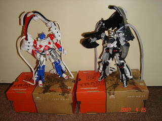 once came out of shoes box, their transform into robot