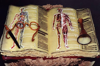 special cake for book worm, doctor and biologist