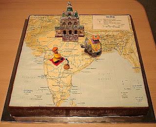 India map cake