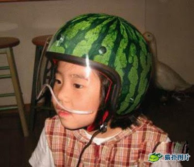 watermelon kid helmet