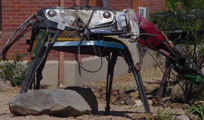 junkyard sculpture - a sculpture made from old metal