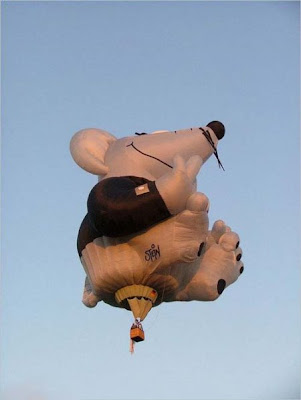 creative shape of hot air balloon