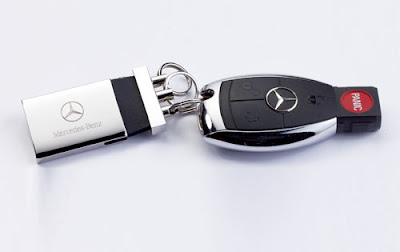 Mercedes car keys with panic button