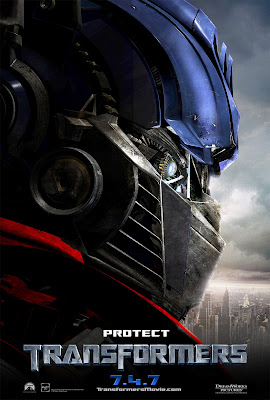 transformers promo poster - optimus prime protect