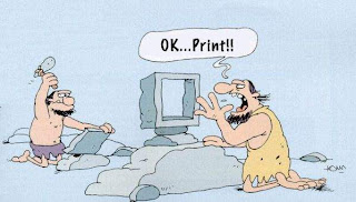 how the stone age people print?