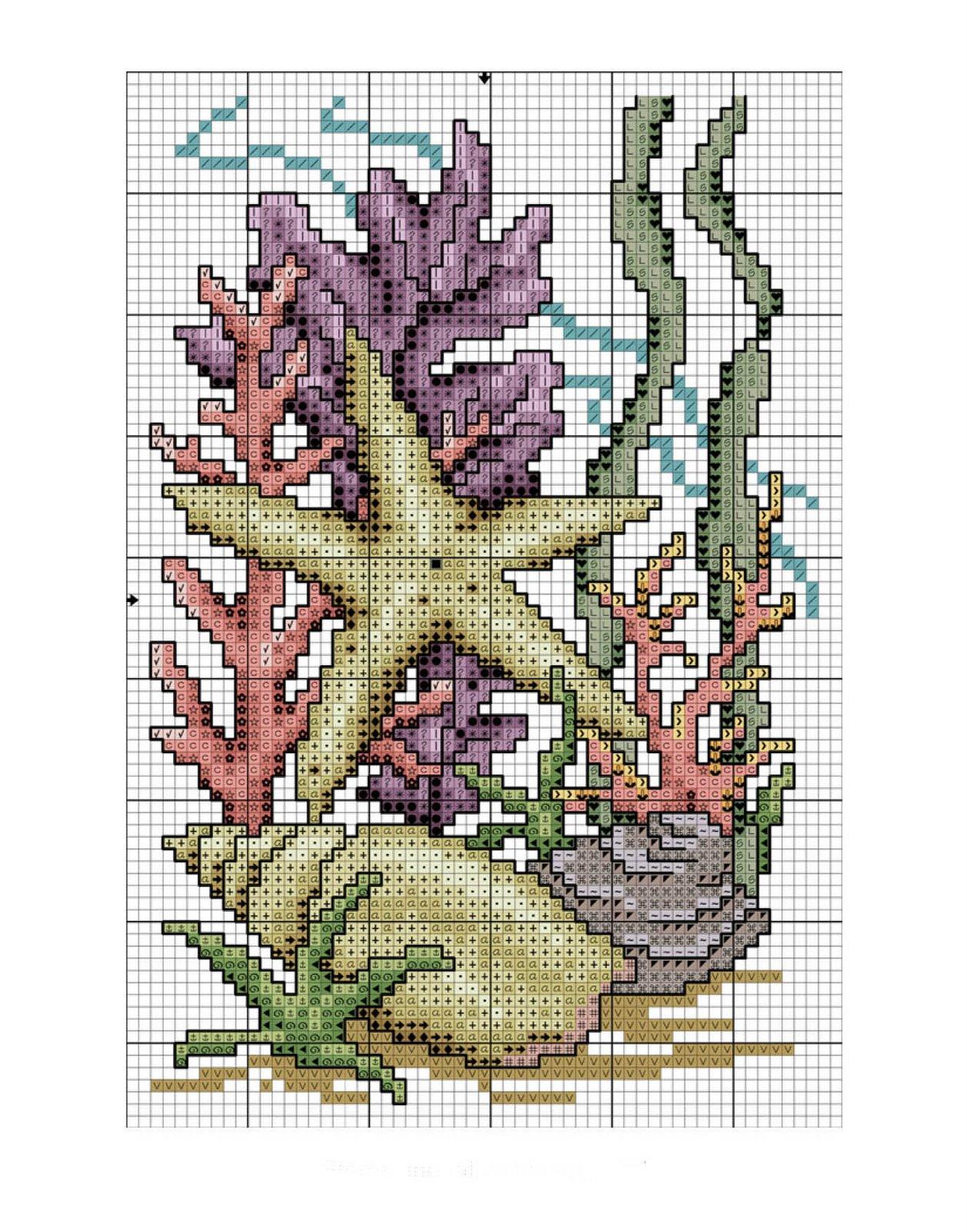 Вышивка крестом морские обитатели 28 схема 38