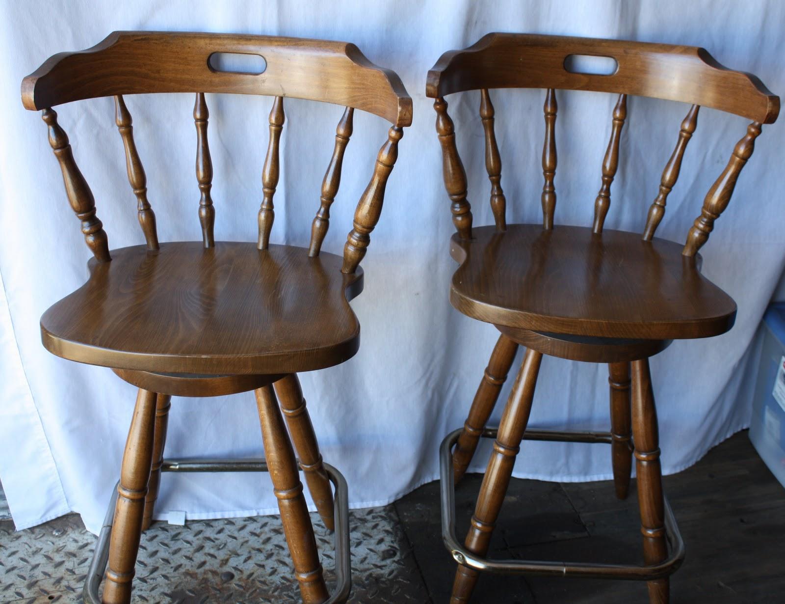 Beau Pine Captain Chair Bar Stools