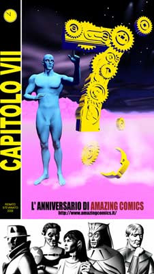 7 anni di Amazing Comics in rete, art by Renato Stevanato