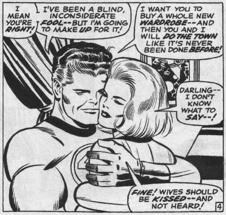 Oh god, Mr Fantastic. *swoon*. I like how he has her wrapped like four times ...