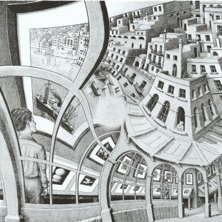 Galleria di quadri by Escher