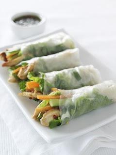 Lean & Lite Vietnamese Chicken Rice Paper Rolls Recipe