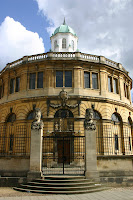The Sheldonian Theatre, designed by Christopher Wren and completed in 1668. All Oxford Students take their degrees in this building.