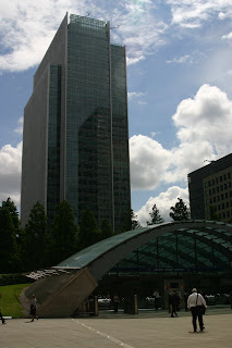 Canary Wharf building housing Infosys