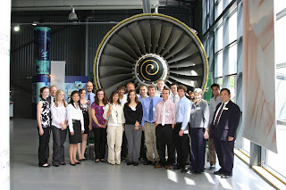Group photo at Rolls-Royce