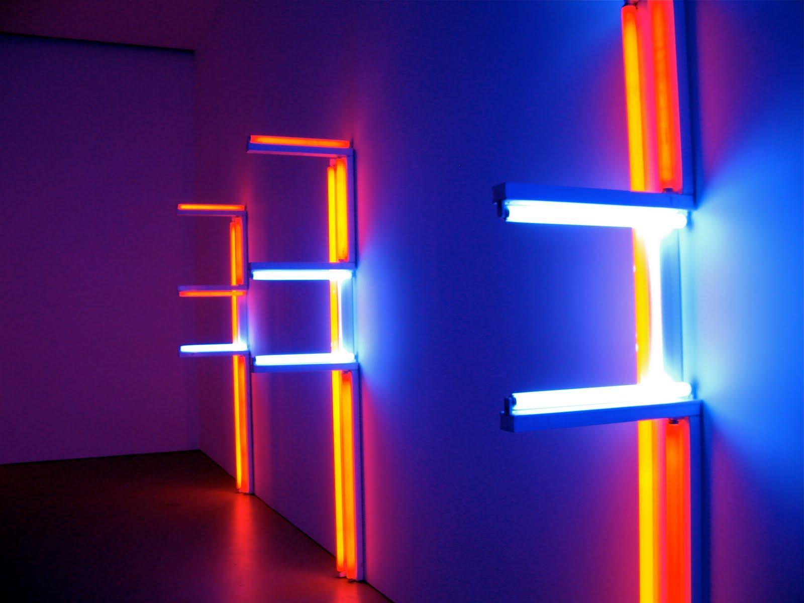 We dare speak a moment only dan flavin for Minimal art neon
