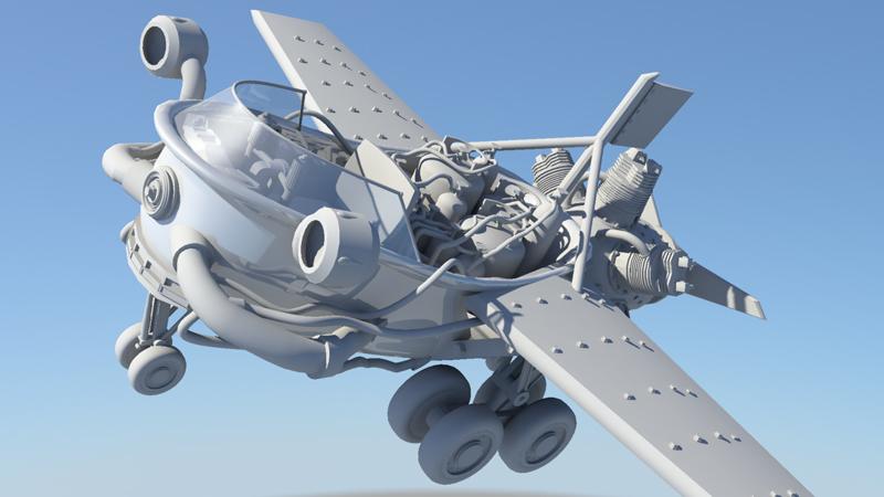 Sam Towler Art Quot Flying Bathtub Quot Maya 3d Model