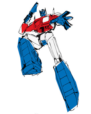 les sketcheurs cosmiques optimus prime sketch. Black Bedroom Furniture Sets. Home Design Ideas