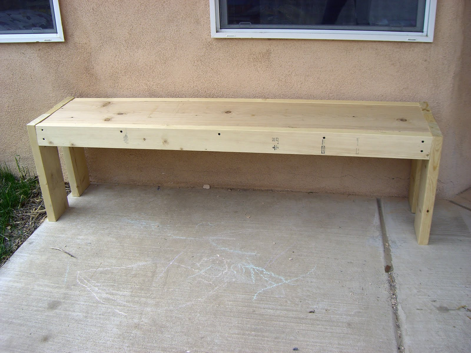 Simple wooden garden bench plans download wood plans for Diy garden table designs