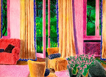Rendering- Living Room, Color Pencil