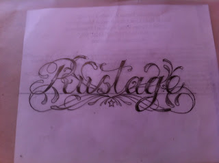back tattoo lettering script