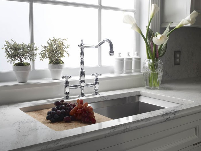 Zodiaq Countertop Reviews : ... : Zodiaq Bianco Carrara Quartz Countertop Compare Look Review