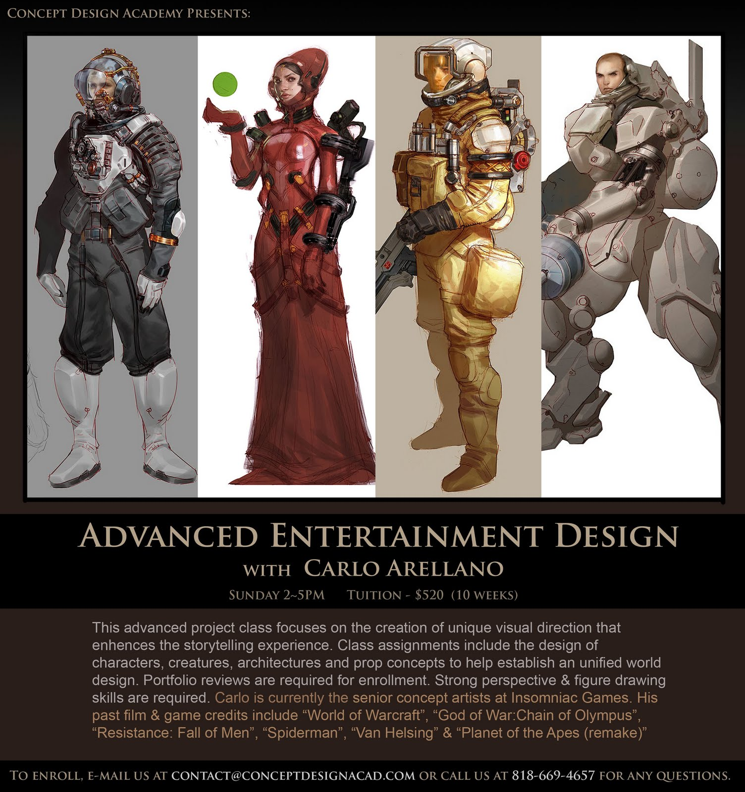 The Art Of Character Design With David Colman Volume 2 : Concept design academy fall enrollment status