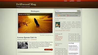 Plantilla Driftwood Mag