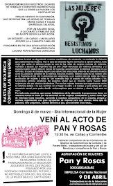 VENI AL ACTO DE PAN Y ROSAS