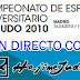 CAMPEONATO DE ESPAÑA UNIVERSITARIO. <BR>Sorteos, seguimiento y restransmisión.