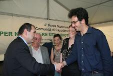 A Capodarco di Roma  alla fine del 2007 con il ministro  Paolo Ferrero
