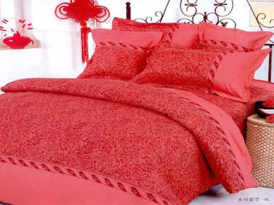 Buy cheap aqua bed linen and matching curtains - Home Furnishings