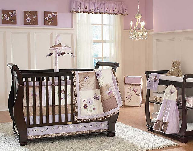 Purple baby girl nursery ideas interior design ideas for Baby girls bedroom designs