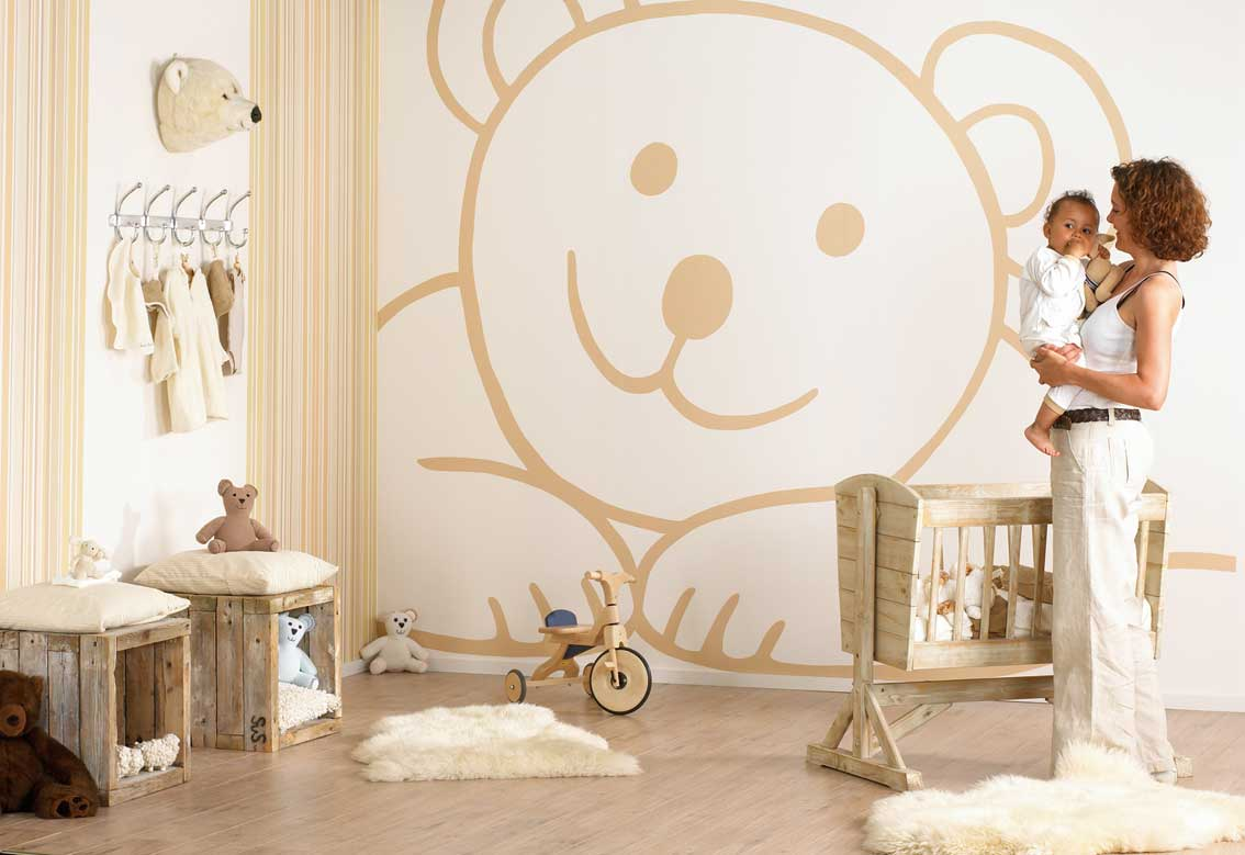Baby Room Wall Decorating Idea