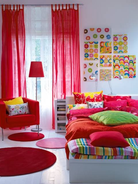 Lush color for your home interior decorating home design sweet home - Colorful teen bedroom designs ...