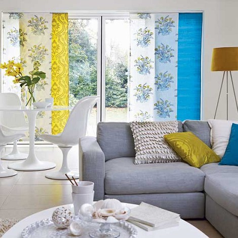 Blue gray and yellow living room decor pics and home decorating long hairstyles - Grey and blue living room ...