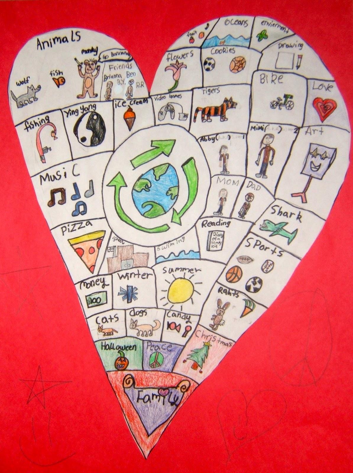 RIVERSIDE ELEMENTARY ART Heart Maps