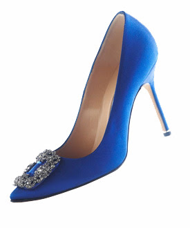 Blue shoes from sex and the city