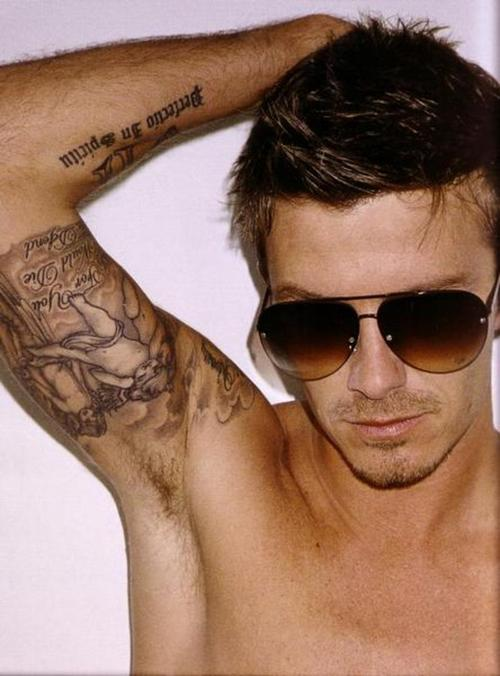 David Beckham Tattoos - Under