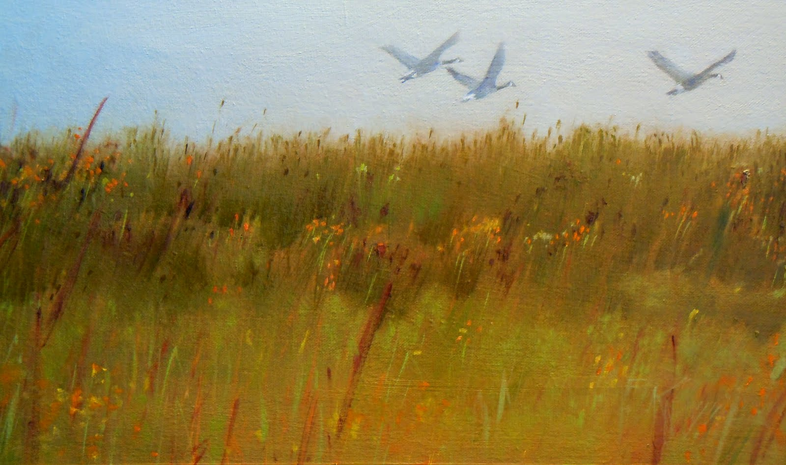 In Plein Air QuotIn Flight On The Dungenessquot Oil Landscape Painting