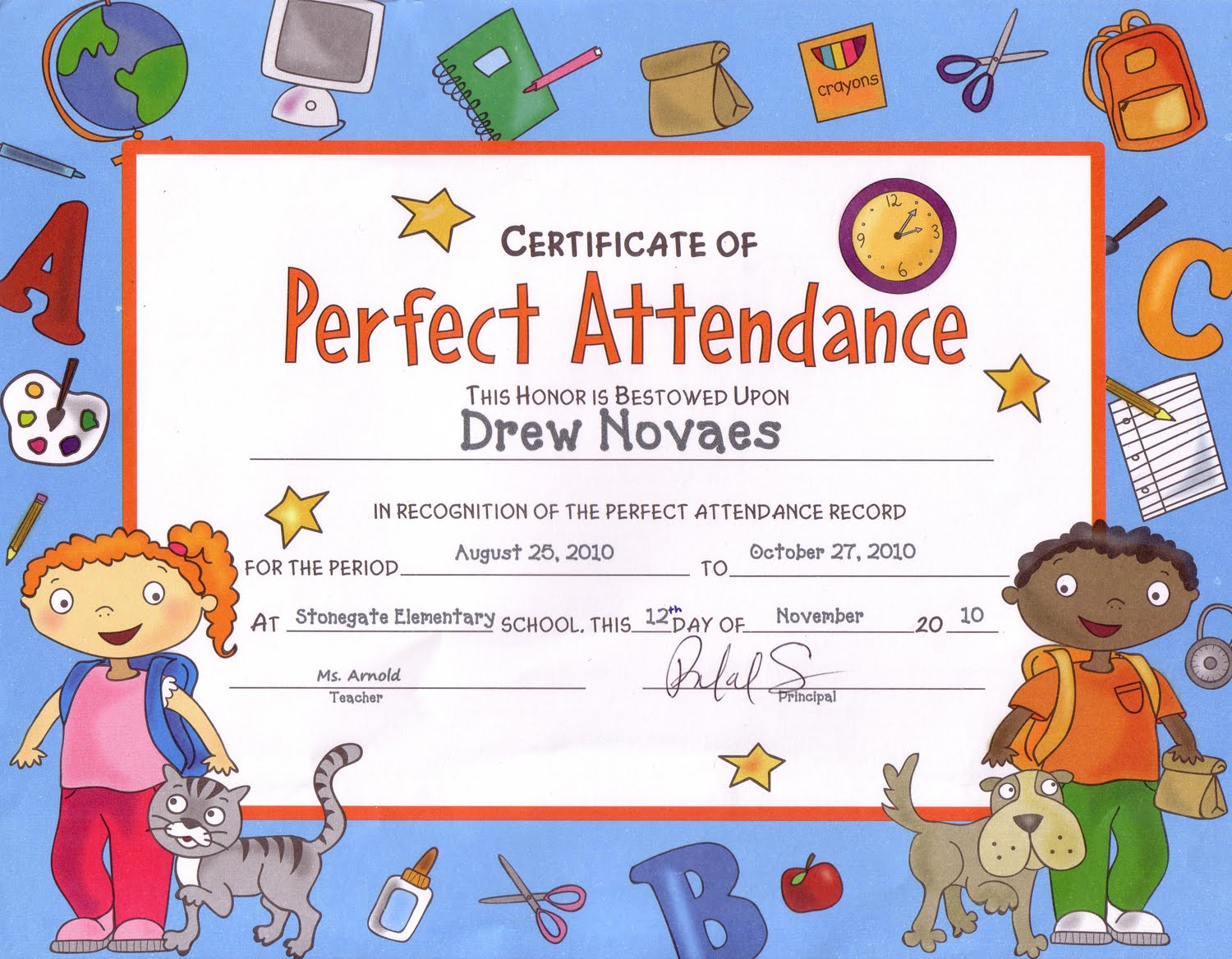honorable mention certificate template - best attendance certificate template gallery certificate