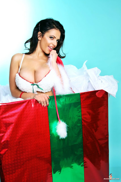 Denise Milani Big Boobs Sexy Christmas Present