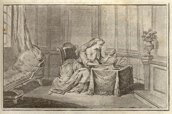 Cartas poéticas por Dorat, 1771.